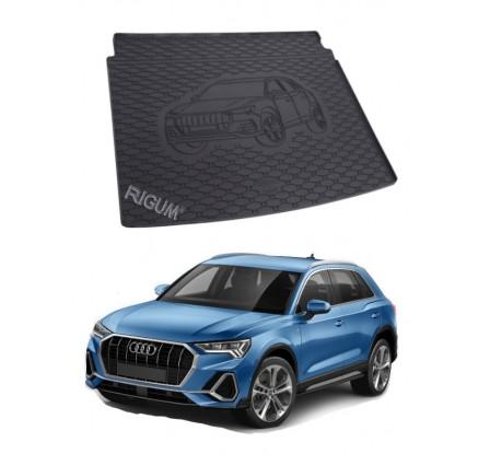 Gumová vaňa do kufra Rigum - Audi Q3 2019 - Horná i dolná podlaha