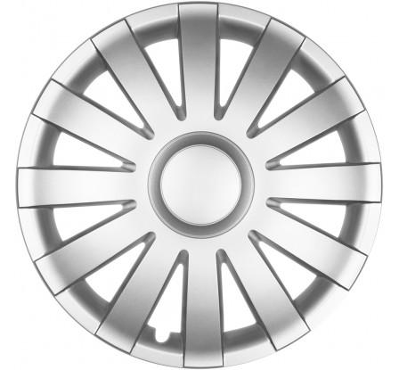 """Puklice na auto 16"""" AGAT silver"""