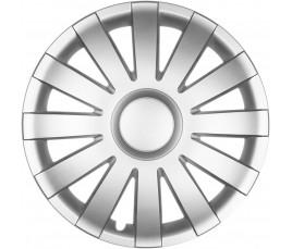 """Puklice na auto 15"""" AGAT silver"""